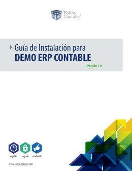 DEMO ERP CONTABLE - Folios Digitales