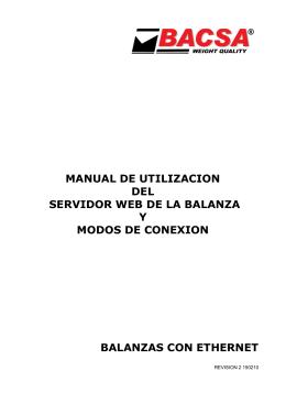 MANUAL DE UTILIZACION DEL SERVIDOR WEB DE LA