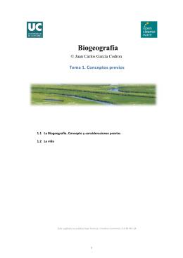 Biogeografía - OCW Universidad de Cantabria