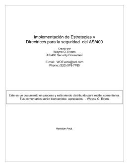 Implementación de Estrategias y Directrices para