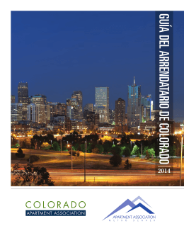 guía del arrendatario de colorado - Apartment Association of Metro