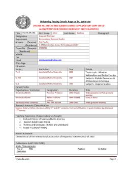 University Faculty Details Page on DU Web-site