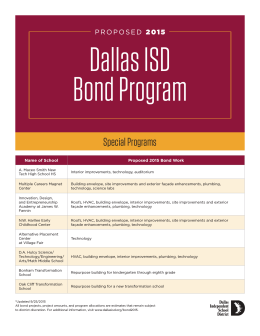Special Programs - Dallas Independent School District