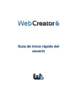 Introducción a Web Creator Pro 6