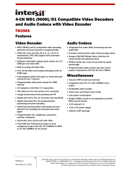 4-CH WD1 (960H)/D1 Compatible Video Decoders and Audio