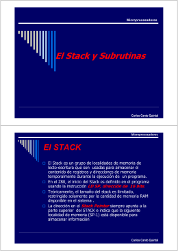 El Stack y Subrutinas