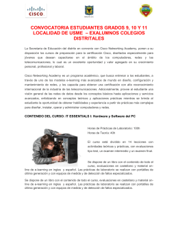 convocatoria estudiantes grados 9, 10 y 11 localidad de usme