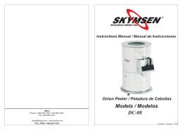 Onion Peeler / Peladora de Cebollas Models / Modelos DC