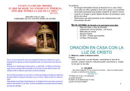 ORACIÓN EN CASA CON LA LUZ DE CRISTO