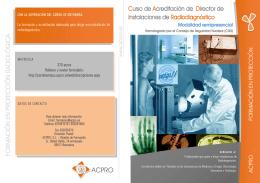 Curso de Acreditación de Director de Instalaciones de