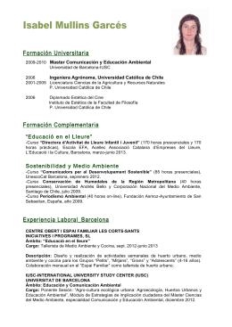 Isabel Mullins Garcés - La Zanahoria Teatrera Presenta.