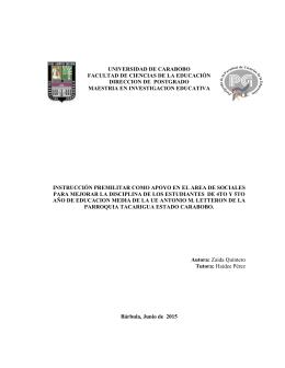 i UNIVERSIDAD DE CARABOBO FACULTAD DE CIENCIAS