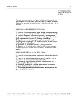 APUNTE DE CÁTEDRA Sinopsis de teoría y uso de Color Instituto