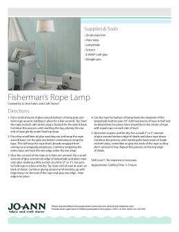Fisherman`s Rope Lamp - Jo