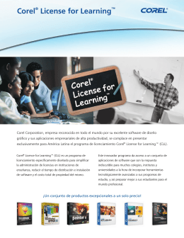 Corel License for Learning