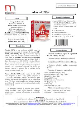 Alcohol 120% - Micronet SA