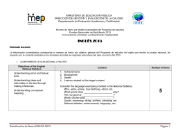 PROPUESTA PONDERACIÓN - Dirección de Gestión y Evaluación