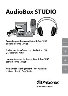 AudioBox STUDIO - Performance Audio