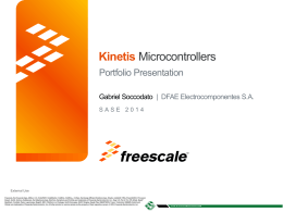 FREESCALE - Workshop Microcontroladores Kinetis