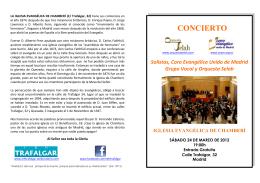 CONCIERTO - Iglesia Evangélica de Trafalgar