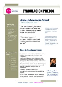 Eyaculación Precoz. - Instituto Sexológico Murciano