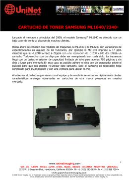 CARTUCHO DE TONER SAMSUNG ML1640/2240®