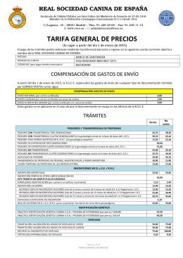 Descargar archivo tarifas - Real Sociedad Canina de España