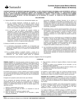 Contrato Supercuenta Básica Nómina (Producto Básico