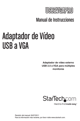 Adaptador de Vídeo USB a VGA
