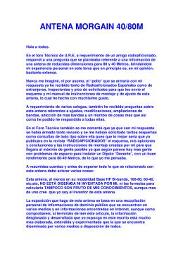 ANTENA MORGAIN 40/80 EA6XD