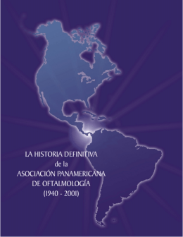 historia-paao -español - Pan-American Association of Ophthalmology
