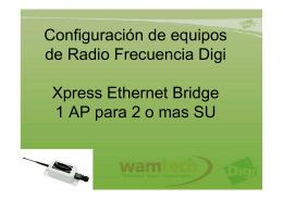 Conectar equipos de Radio Frecuencia