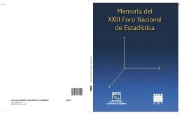 XXIII Foro - Asociación Mexicana de Estadística