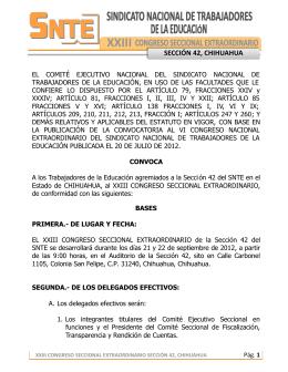 SECCION 42 - XXIII CSE CHIHUAHUA CONVOCATORIA