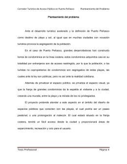 CORREDOR TURÍSTICO DE ACCESO PÚBLICO EN PUERTO