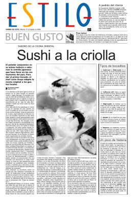 Sushi a la criolla