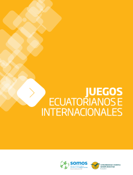 Juegos ecuatorianos e internacionales  - Inicio