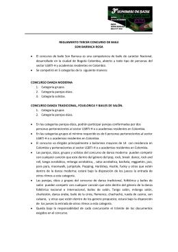REGLAMENTO TERCER CONCURSO DE BAILE SON BARRACA