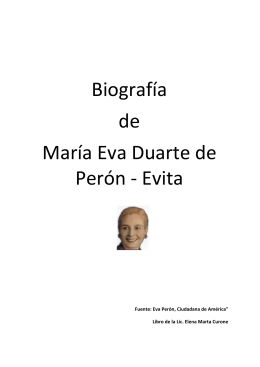 Biografía de María Eva Duarte de Perón - Evita