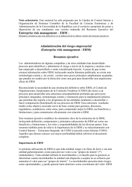 Documento ERM - Facultad de Ciencias Económicas y de