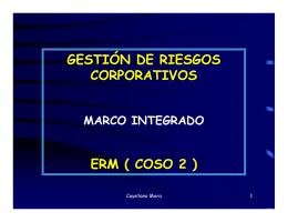 GESTIÓN DE RIESGOS CORPORATIVOS ERM ( COSO 2 )