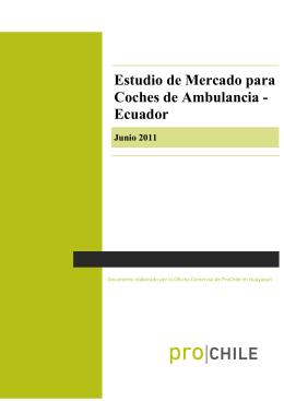 Estudio de Mercado para Coches de Ambulancia - Ecuador