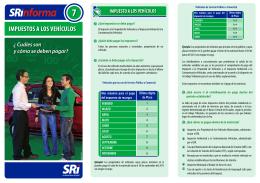 Triptico Vehículos - Servicio de Rentas Internas del Ecuador