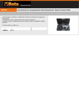 Herramienta de comprobación electroinyectores Diesel Common