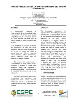 diseño y simulación de un banco de pruebas del sistema common rail