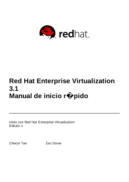Red Hat Enterprise Virtualization 3.1 Manual de inicio rápido