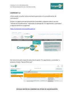 consulta de información de procedimientos de contratación oficialía