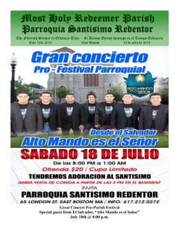 Great Concert Pro-Parish Festival Special guest from El