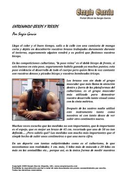 ENTRENANDO BÍCEPS Y TRÍCEPS Por Sergio Garcia