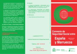 Convenio de Seguridad Social entre España y Marruecos